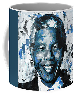 Coffee Mug featuring the painting Nelson Mandela II by Richard Day