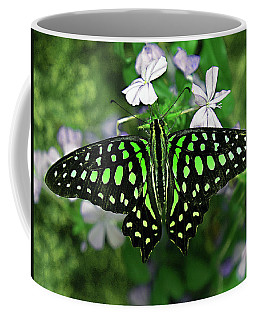 Neon --- Tailed Jay Butterfly Coffee Mug