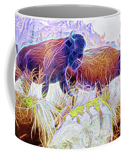 Neon Bison Pair Coffee Mug
