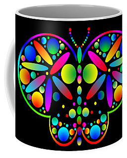 Coffee Mug featuring the photograph Neon Butterfly by Mark Blauhoefer