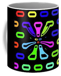 Coffee Mug featuring the digital art Neon Child by Kathy Kelly