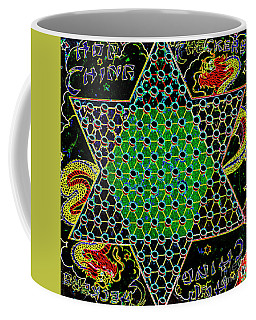 Neon Chinese Checkers Coffee Mug