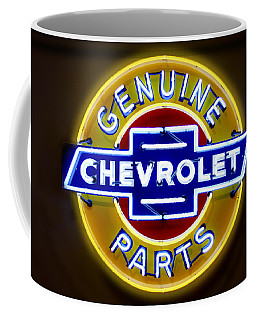 Neon Genuine Chevrolet Parts Sign Coffee Mug