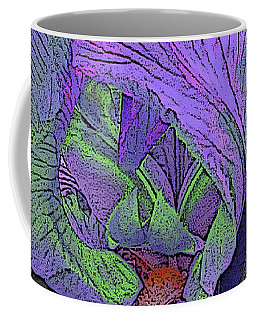 Neon Iris Dark Background Coffee Mug