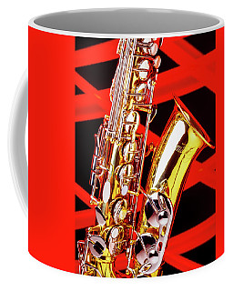 Neon Jazz Sax Coffee Mug