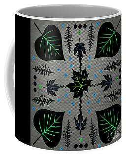 Neon Leaves Coffee Mug