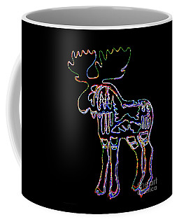 Neon Moose Coffee Mug