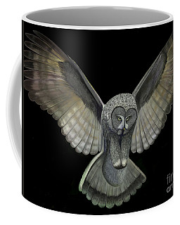 Neon Owl Coffee Mug by Rand Herron