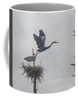 Nesting Great Blue Heron Coffee Mug