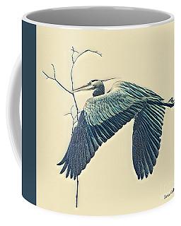 Nesting Heron Coffee Mug