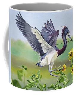 Nesting Tri Colored Heron Coffee Mug