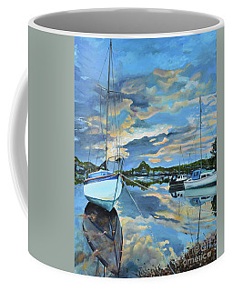 Nestled In For The Night At Mylor Bridge - Cornwall Uk - Sailboat  Coffee Mug