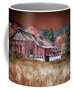 Coffee Mug featuring the digital art Nestled In The Laurel Highlands by Lois Bryan