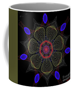 Net Mandala Coffee Mug by Dragica Micki Fortuna