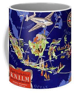 Coffee Mug featuring the mixed media Netherlands Vintage Travel Poster Restored by Carsten Reisinger
