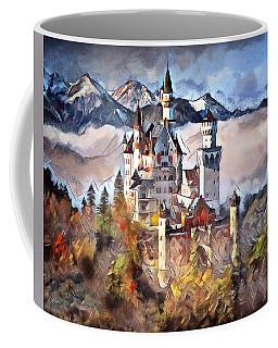 Coffee Mug featuring the digital art Neuschwanstein Castle by Pennie McCracken