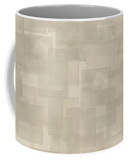Neutral Brown Abstract Pattern Coffee Mug