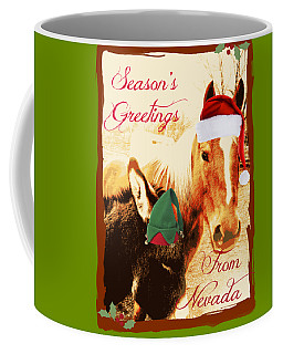 Coffee Mug featuring the photograph Nevada Greetings by Bobbee Rickard