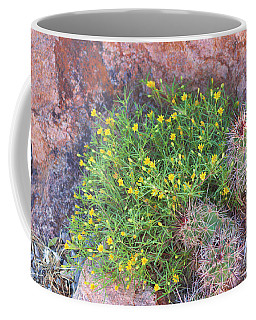 Coffee Mug featuring the photograph Nevada Yellow Wildflower by Linda Phelps