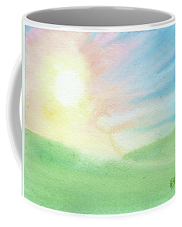 Coffee Mug featuring the painting New Beginnings by Betsy Hackett