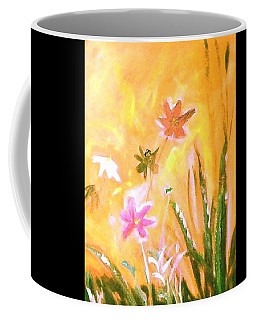 Coffee Mug featuring the painting New Daisies by Winsome Gunning