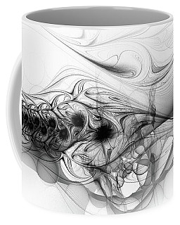 New Directions - Black And White Modern Abstract Art Coffee Mug