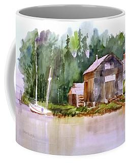 New England Boat Repair Coffee Mug by Larry Hamilton