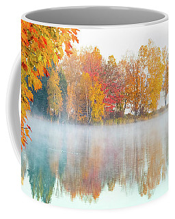Coffee Mug featuring the photograph New England Fall Colors Of Maine by Jeff Folger
