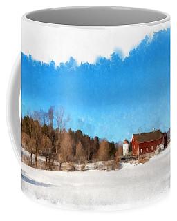 New England Farm Winter South Woodstock Vermont Coffee Mug