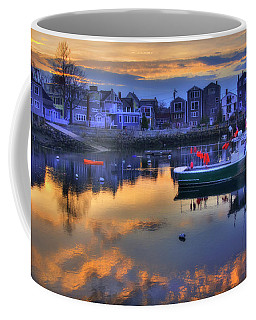 Coffee Mug featuring the photograph New England Harbor Sunset - Rockport, Ma by Joann Vitali