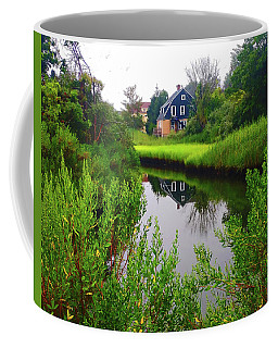 New England House And Stream Coffee Mug