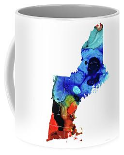 New England - Map By Sharon Cummings Coffee Mug