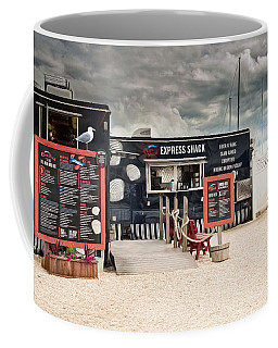Coffee Mug featuring the photograph New England Seafood Express by Robin-Lee Vieira