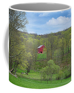 Coffee Mug featuring the photograph New England Spring Pasture by Bill Wakeley