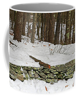 New England Stone Fence And Snow Coffee Mug by Mary Bedy