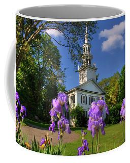 New England White Church In Spring Coffee Mug