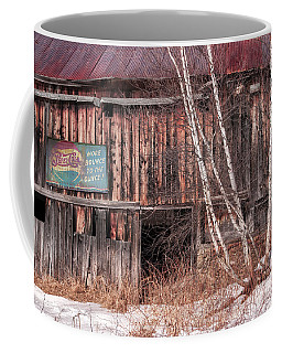 Vintage Winter Barn Coffee Mug