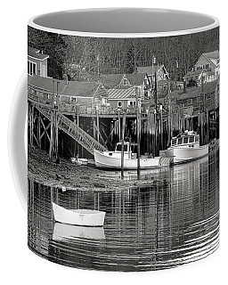 Coffee Mug featuring the photograph New Harbor Docks by Olivier Le Queinec