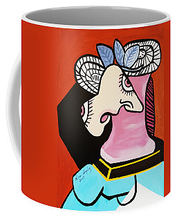 Coffee Mug featuring the painting New I Lost My Head  Picasso by Nora Shepley