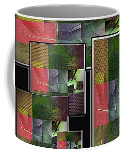 Coffee Mug featuring the digital art New Journeys by Iris Gelbart