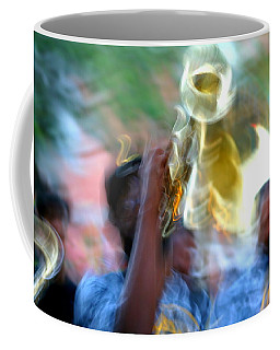 New Orleans Abstract Street Jazz Performance Coffee Mug