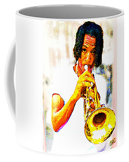 New Orleans Street Musician Coffee Mug