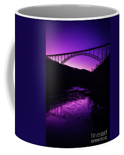 New River Gorge Bridge Afterglow Coffee Mug