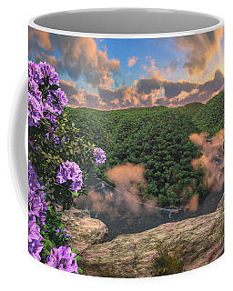 Coffee Mug featuring the digital art New River Gorge Grandview by Mary Almond