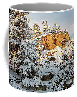 Coffee Mug featuring the photograph New Snow On The Rims by Jack Bell