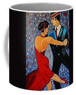 Coffee Mug featuring the painting New Two To Tango by Nora Shepley