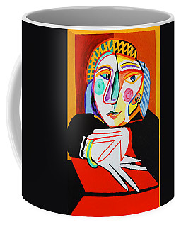 Coffee Mug featuring the painting New Woman In A Window by Nora Shepley