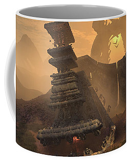 Coffee Mug featuring the digital art New World Order by Mary Almond