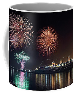 New Years With The Queen Mary Coffee Mug