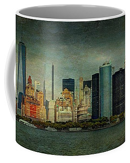 Coffee Mug featuring the mixed media New York After Storm by Dan Haraga